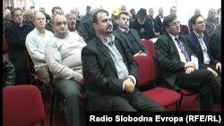 Архивска фотографија: Градоначалникот на Пустец, Едмонд Темелко, на Семакедонски собир во Прилеп на 3 февруари 2014