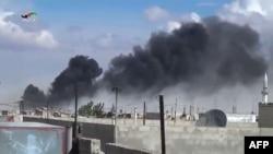 Vazdušni napadi na grad Talbisseh u provinciji Homs, 30. septembar 2015.