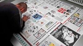 Štampanje lista Charlie Hebdo, januar 2015.
