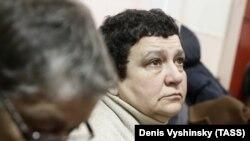 Елена Баснер в зале суда
