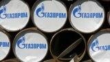 Russia -- Pipes with Gazprom logo during the groundbreaking ceremony for the Dzhubga-Lazarevskoye-Sochi main gas pipeline in the Krasnodar Krai, 28Sep2009