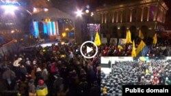 В центре Киева во время акции «Ночь памяти».