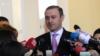 Հայաստանի ազգային անվտանգության խորհրդի քարտուղար Արմեն Գրիգորյանը պատասխանում է լրագրողների հարցերին։