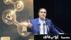 Dr. Saeed Sarkar, one of the godfathers and the head of Iran's nano-technology sector, addressing a conference in October 2017. FILE PHOTO