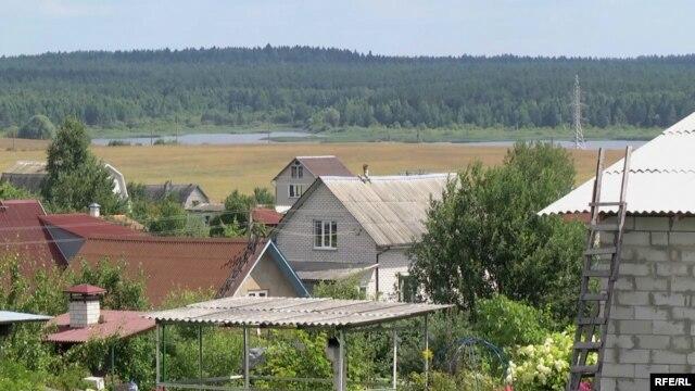 Вид на дома на территории будущего Китайско-Белорусского индустриального парка.