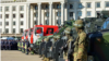 Odesa's regional police said that 2,500 police and National Guard troops were patrolling the streets of Odesa.