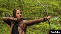 "Jennifer Lawrence as Katniss Everdeen in ""The Hunger Games"""