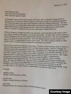 Letra e plotë që iu është dërguar krerëve shtetërorë të Kosovës