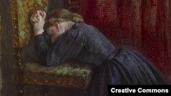 Джордж Генры Боўтан, «Жанчына моліцца на каленях»