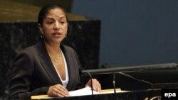 سوزان رایس، نماینده آمریکا در شورای امنیت سازمان ملل متحد.