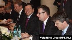 Jose Manuel Barroso și delegația UE la Chișinău, 30.11.2012