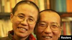 Nobel Peace Prize winner and dissident Liu Xiaobo with his wife Liu Xia. Liu is currently serving a prison sentence in China.
