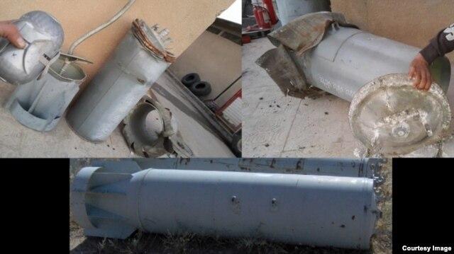 """Суббоеприпасы """"глупой бомбы"""" ШОАБ-0,5 на изображениях из Эль-Латамны, из Эль-Бавабии и с форума Guns.ru"""