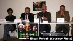 از راست: تقی رحمانی٬ حسن شمس٬ کاظم کردوانی و امید منتظری