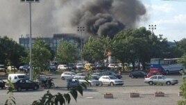 Aeroportul Burgas după apentatul din 18 iulie 2012