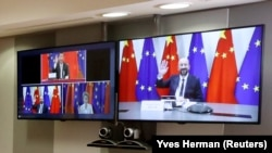 Summit virtual Uniunea Europeană-China, 22 iunie 2020.