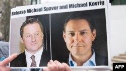 Protest u Vankuveru kojim se zahtijeva da Kina oslobodi Michaela Spavora i Michaela Kovriga