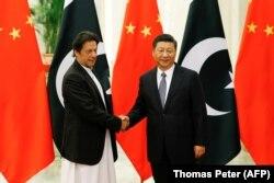 Kineski predsjednik Si Đinping sastaje se s pakistanskim premijerom Imranom Kanom u Velikoj dvorani naroda u Pekingu u novembru 2018. godine.