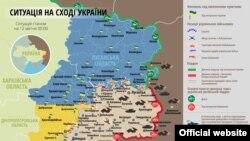 Ukrayna xəritəsi, Donbas döyüş zonası