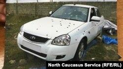 Машина, в которой находился Вали Багаутдинов