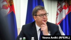 Serbia - President of Serbia Aleksandar Vucic at National Convention on the European Union in Belgrade. 3 October 2020