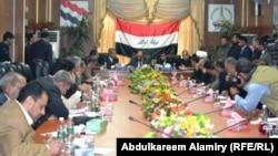 إجتماع لمجلس محلي في البصرة