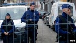 Бельгия полицейлері. Вервье, 16 қаңтар 2015 жыл.