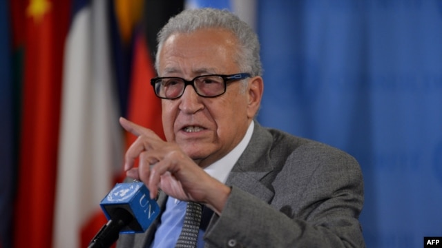 Lakhdar Brahimi, the special envoy for the United Nations and the Arab League for Syria, called for the UN Security Council to approve a resolution providing for a large peacekeeping mission.