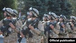 Армянское подразделение во время учений в России (архив)