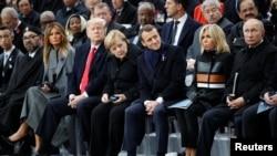 Мировые лидеры на церемонию по случаю 100-летия окончания Первой мировой войны. 11 ноября 2018, Париж