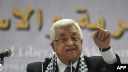 Palestinian President Mahmud Abbas at a Fatah party congress in August