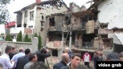 Куманово после вооруженной атаки, Македония.