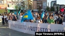 Protesta e qytetarëve kundër përgjimeve