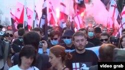 Анти-мигрантски протест во Тбилиси.