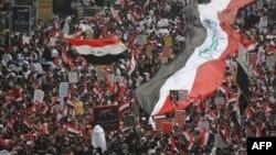Массовsе протесты в Ираке. Багдад, 24 января 2020 года