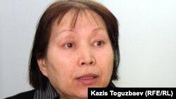 «Халық майданы» қозғалысының белсендісі Раушан Барлыбаева. Алматы, 20 наурыз 2012 жыл.