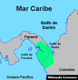 Дарьенский пробел на границе Колумбии и Панамы