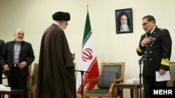 Ali Shamkhani, secretary of Iran's national security council, meets with IRI leader Ali Khamenei February.