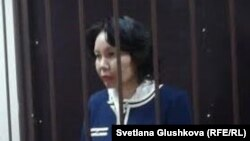 Бывший председатель агентства по статистике Казахстана Анар Мешимбаева на суде по ее делу. Астана, 10 февраля 2014 года.
