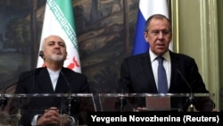Russian Foreign Minister Sergei Lavrov (right) and his Iranian counterpart, Mohammad Javad Zarif, will be discussing bilateral ties and regional issues.