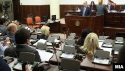 Министерот за финансии Кирил Миноски на Седница на собраниската Комисија за финансирање и буџет.