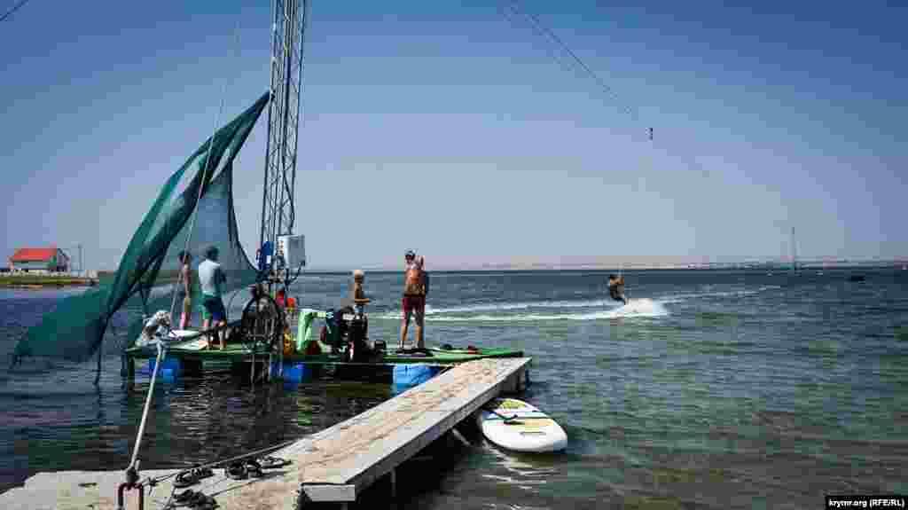 Уроки кайтсерфінгу на озері