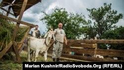 На козиній фермі під Костянтинівкою