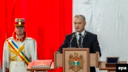 Новый президент Молдовы Игорь Додон вступает в должность. Кишинев, 23 декабря 2016 года.