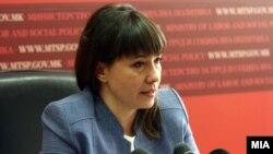 Министерката Мила Царовска