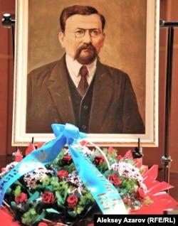 A portrait of Akhmet Baitursynov