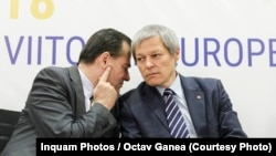 Ludovic Orban, liderul PNL alături de Dacian Ciolos, președintele PLUS, formatiune aflată în alinață cu USR