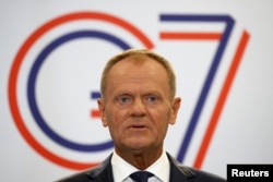 Donald Tusk la summitul G7