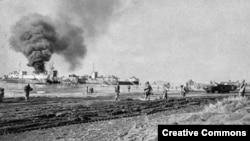 Американские войска, высадившиеся в Анцио. Январь 1944 года