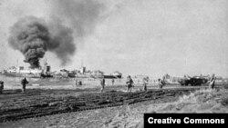 Американські війська, що висадилися в Анціо. Січень 1944 року